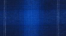 【青色オンブレチェック】ネイビーブルーから青色へ変化するチェック柄