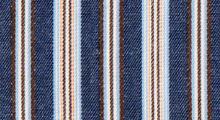 【紺色ツイルストライプ】紺色に、水色、茶、黄色のストライプ柄