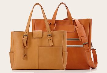 革の厚さで変わるバッグ