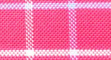 【赤チェック】ピンクに近い赤色で薄いブルーと白のチェック柄